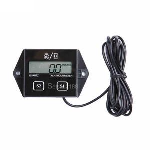Motorcycle Digital Tachometer Hour Meter LCD Display Engine Tach Tractor RPM Hour Meter Gauge Tachometer For Boat Car Motorcycle