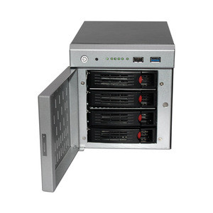 NAS 4trays storage network chassis with door drive server case