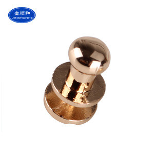 New Brand Logo Round Head Zinc Alloy Metal Rivets For Clothing Custom Leather Craft Bag Belt Clothing Garment Shoes