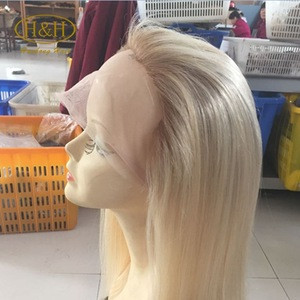 New design blonde full lace wig dark roots #1b/613 long blonde human hair wig can custom #613 blonde wig