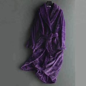 Popular coral fleece bathrobe