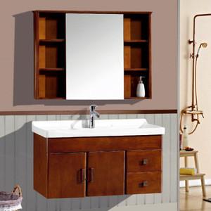 Sanding Hot Sale Classic Solid Wood Bathroom Vanity Cabinet Furniture Small Bathroom Cabinet