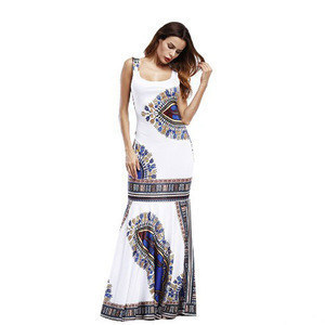Women African Dashiki Dresses Maxi African Bazin Print Robe Longue Dresses Traditional For Ladies Big Size African Clothing