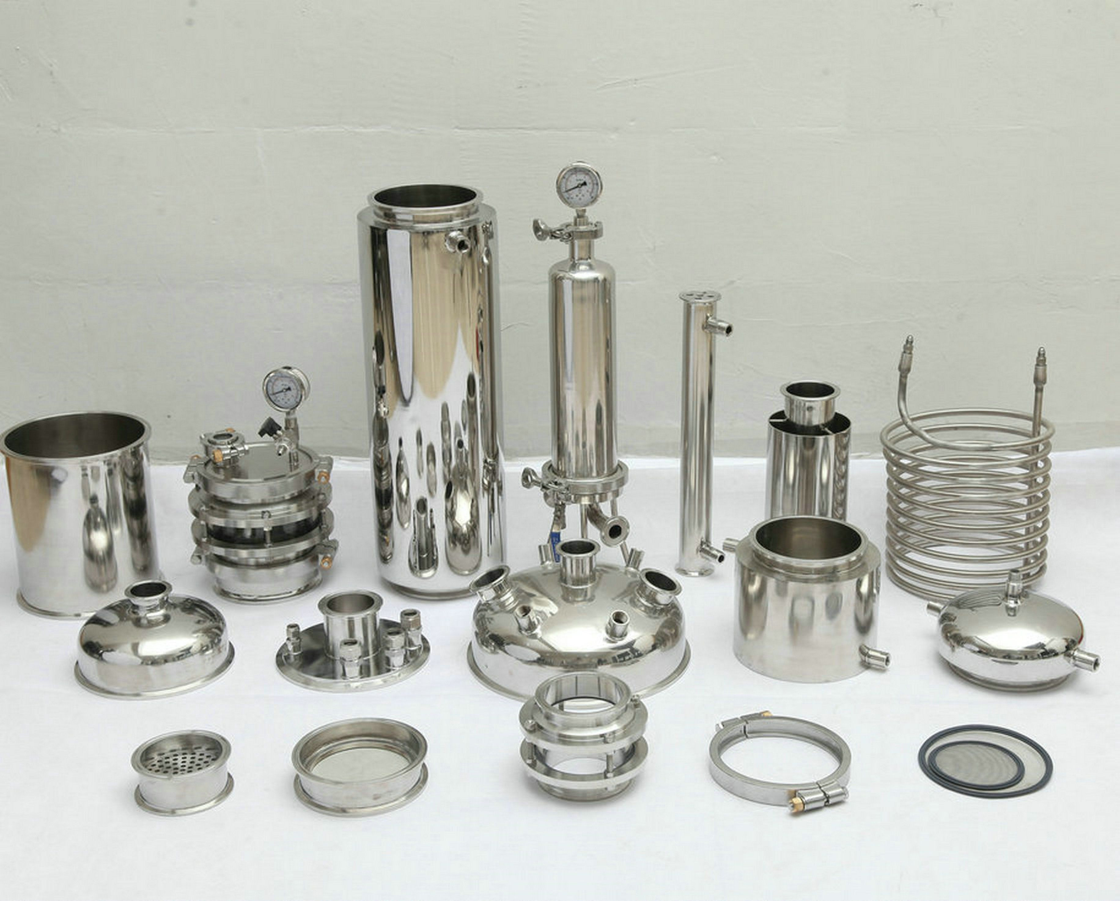 Stainless  steel   botanical extractor essential oil   BHO   extractor  parts  fitting
