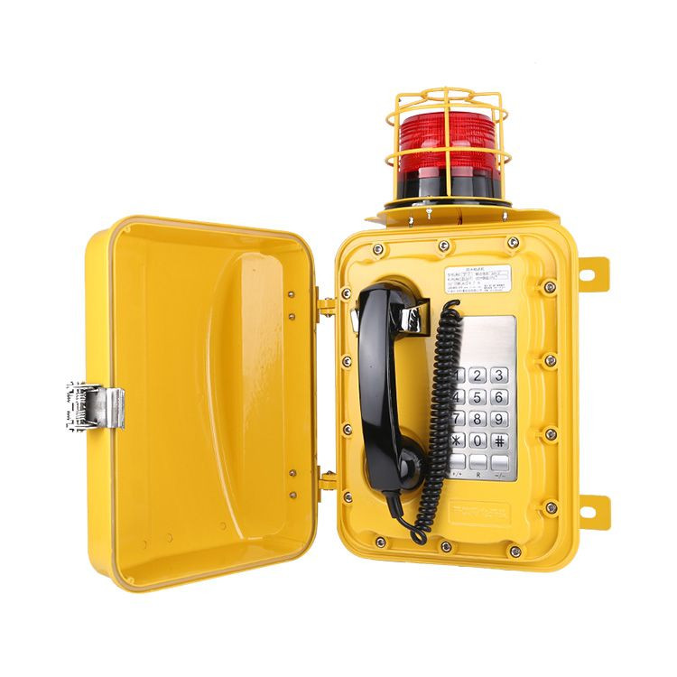 Wall-mounted industrial waterproof   Analog  telephone with beacon JWAT303
