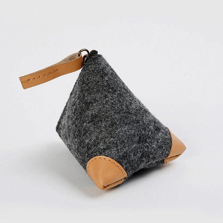 Mini portable cheap felt coin purse with zipper