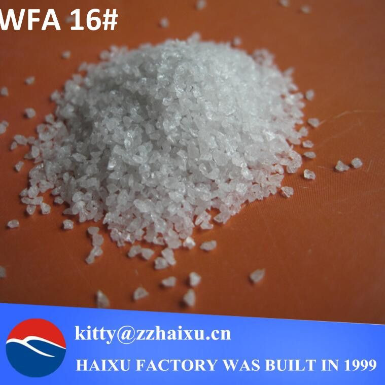 White fused alumina for refractory material