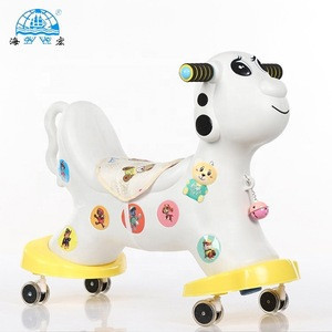 Animal toy ride on rocking horse plastic with wheels
