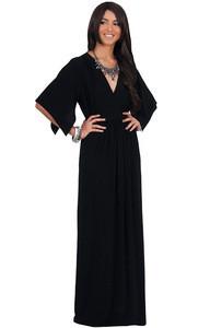 Ball gown wedding dresses Womens Long Kaftan Short Sleeve Empire Waist Flowy V-neck formal Evening maxi gown dresses women
