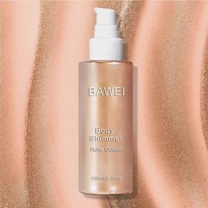 BAWEI Natural Moisturizing Shimmering Body Oil Golden Bronzer Glow Body Glitter Shimmer Highlight Spray Makeup