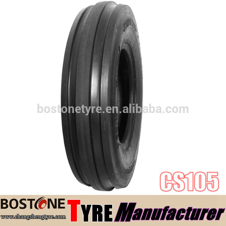 BOSTONE F-2 TRI RIB agricultural farm tractor front tyres 6.00-16-8pr