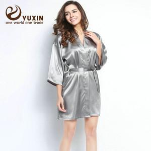 Bridal silk robe Custom made women robe bridesmaid robes Nightgown 0609003