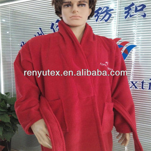 China supplier high quality hotel microfiber terry bathrobe with logo