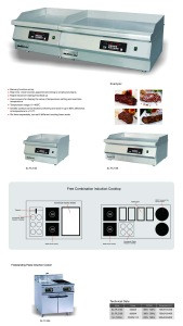 Commercial tabletop electric griddle grill stainless steel induction griddle