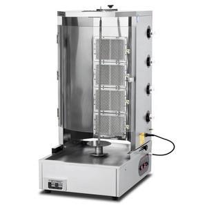 Commercial using gas Chicken Shiskebab machine for meat in Turkey Meat folder machine
