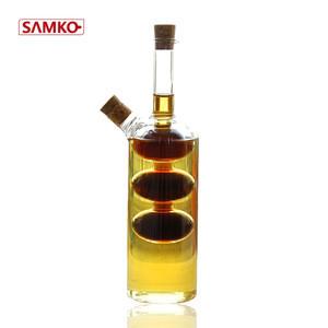 Cooking oil glass olive oil and vinegar oil bottles set