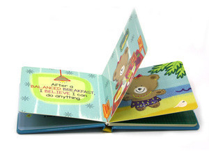 Custom printing colorful children hardcover board book, child book printing