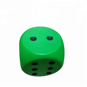Custom pu giant foam stress dice