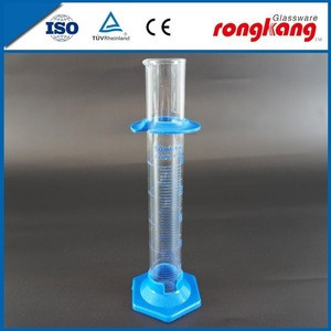 Customized clear glass measuring cylinder