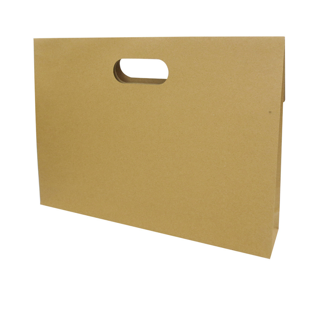 Customized Die Cut Handle Brown Kraft Paper Gift Bags