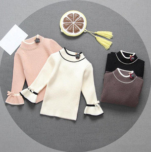 Cy10259a wholesale latest cotton knitting children kid sweater for girl