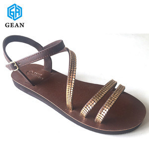 Easy Walk Beach Leather PU Bling Styles Woman Sandal
