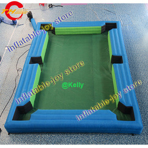Free air shipping inflatable snooker game, football billiards inflatable table soccer snook cheap inflatable snooker pool table