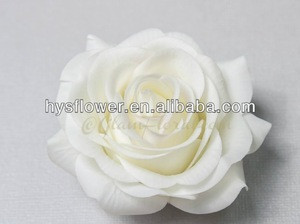 Hair decor rose head artificial rose white color natural real touch roses