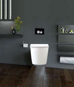 HOT! Black color Tempered Glass Easy and Quick Assembly Click Twin Flushing Plate Panel of Concealed Cistern