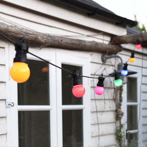 Indoor and outdoor use, traditional 'Cafe Style' festoon lighting G50 golf ball top with hook