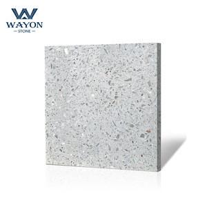 Light grey man made inorganic terrazzo slab for apartment/office building flooring