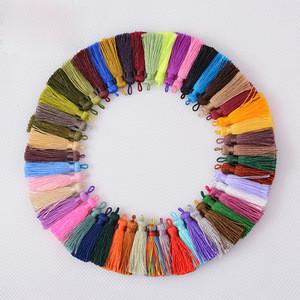 LONGJIE free sample 49 color keychain earrings tassel for women
