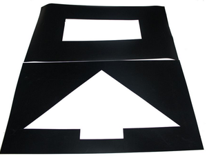 Pavement Stencil Arrow Parking Lot Symbol PVC Stencil