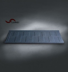 Red and green durable and low price steel sheet stone coated metal roof tile for Ghana