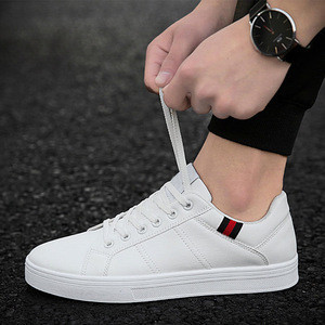 Rubber Out Sole White Flat Mixed Men