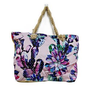 Stylish Canvas Beach Bag Tote Casual Design Women Latest Design Ladies Cotton Canvas Jute Tote Bag