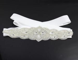 Wedding Bridal Belt Sash Belt Crystal Rhinestone Off White Pearls