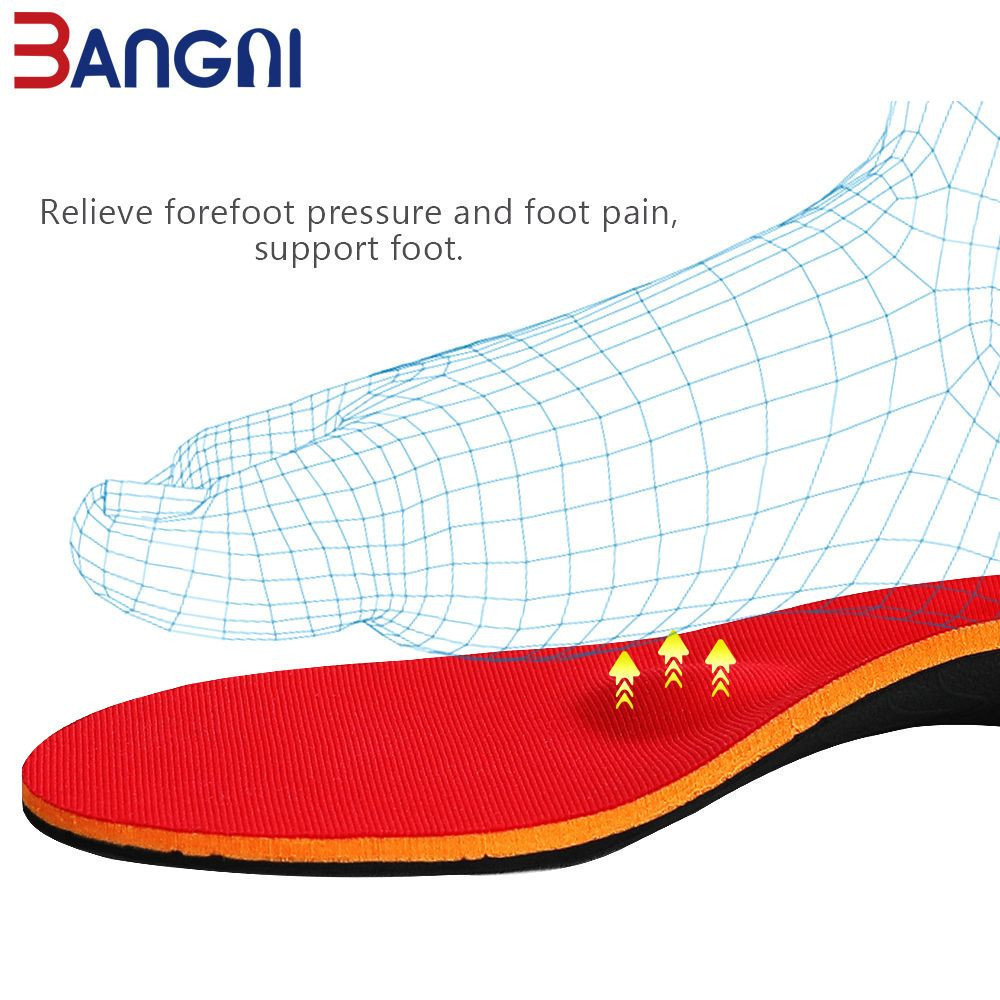 Bangnistep Arch Support Flat feet insoles Orthotic Shoepad Orthopedic Plantar Fasciitis Inserts for Men Women shoes