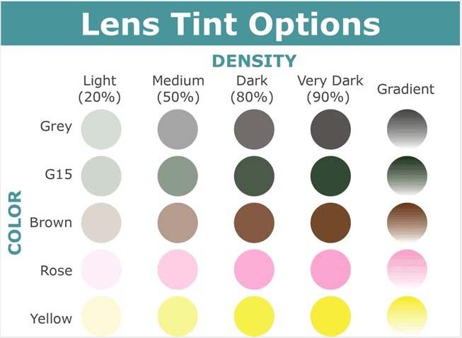 tinted sunglasses single vision 1.49/1.56/1.61/1.67 hc hmc REVO  optical lens wholesaler  eyeglasses