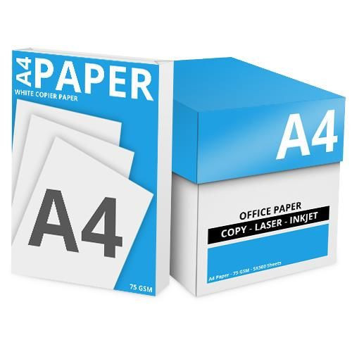 White Box Economy A4 White Paper 70gsm [5 Reams 2500 Sheets]