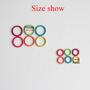 2 Sizes Colorful Metal Ring Stitch Marker For Knitting & Crochet