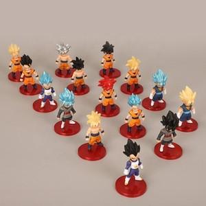 21 styles 7cm  anime cartoon goku action costume pvc figurine dragon ball for decoration gifts capsule toys