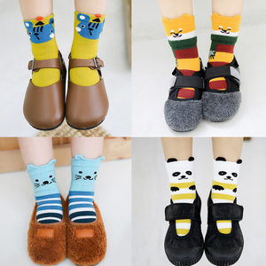 10 Pairs of Kids Boys and Girls Socks Cartoon Cotton Socks Leisure and Warmth