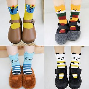 5 Pairs/Lot Cartoon Baby Socks Spring Autumn Children Socks Breathable Cotton Kid Socks for Boys Girls Hosiery