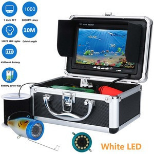 "7"" Inch 1000tvl Underwater Fishing Video Camera Kit 12 PCS LED white Lamp Lights  Video Fish Finder Lake Under Water fish cam"