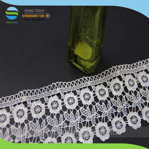 8.5cm high quality polyester water soluble crochet lace trim for garment accessories