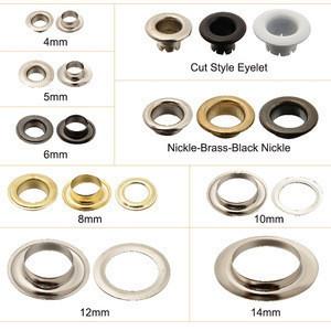 8mm Fashion ring plated metal eyelets
