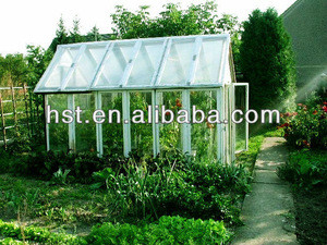 Aluminum alloy frame greenhouse with PC sheets