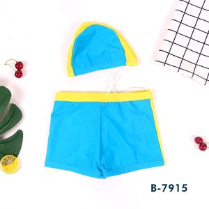B7915 Two-Piece Suit Of Boy'S Swimming Cap And Swimming Srunks
