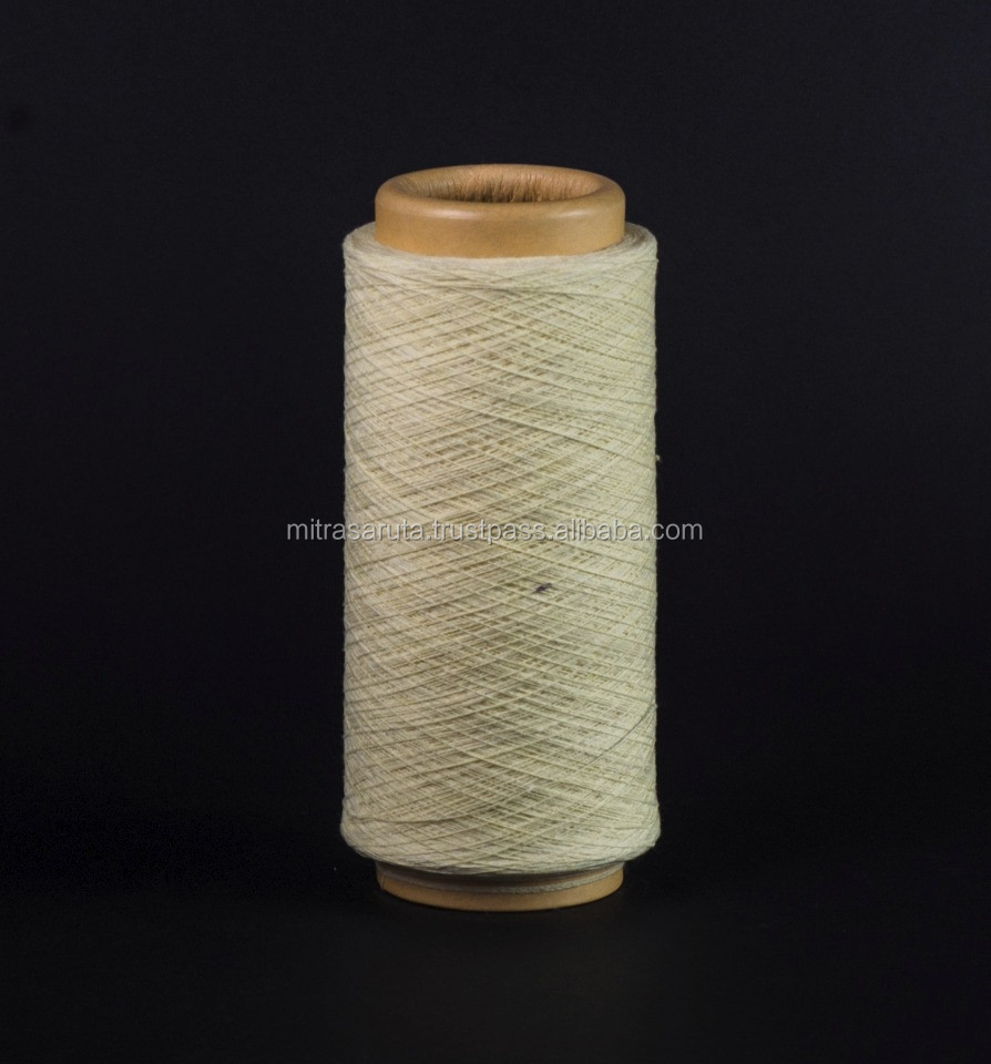 BLENDED POLYCOTTON NATURAL WHITE YARN NE 5s - 10s FOR WORKING GLOVES